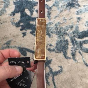 NWT Sz S White House Black Market reversible belt